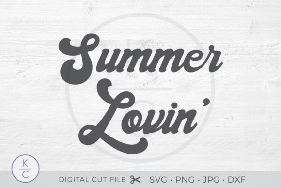 Download Free Summer Lovin Graphic By Thekccollectiveco Creative Fabrica for Cricut Explore, Silhouette and other cutting machines.
