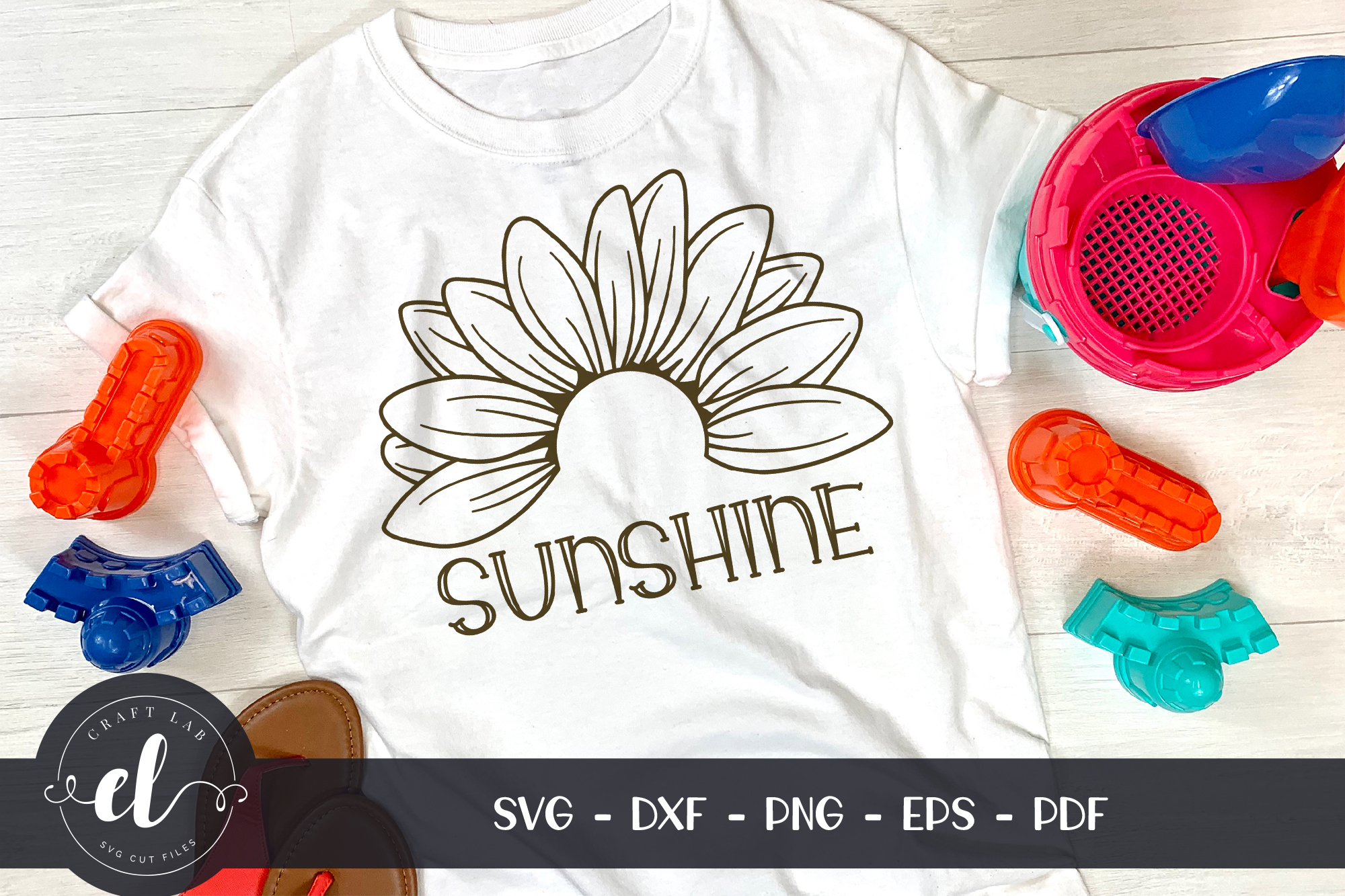 Download Free Sunflower Clipart Graphic By Craftlabsvg Creative Fabrica for Cricut Explore, Silhouette and other cutting machines.