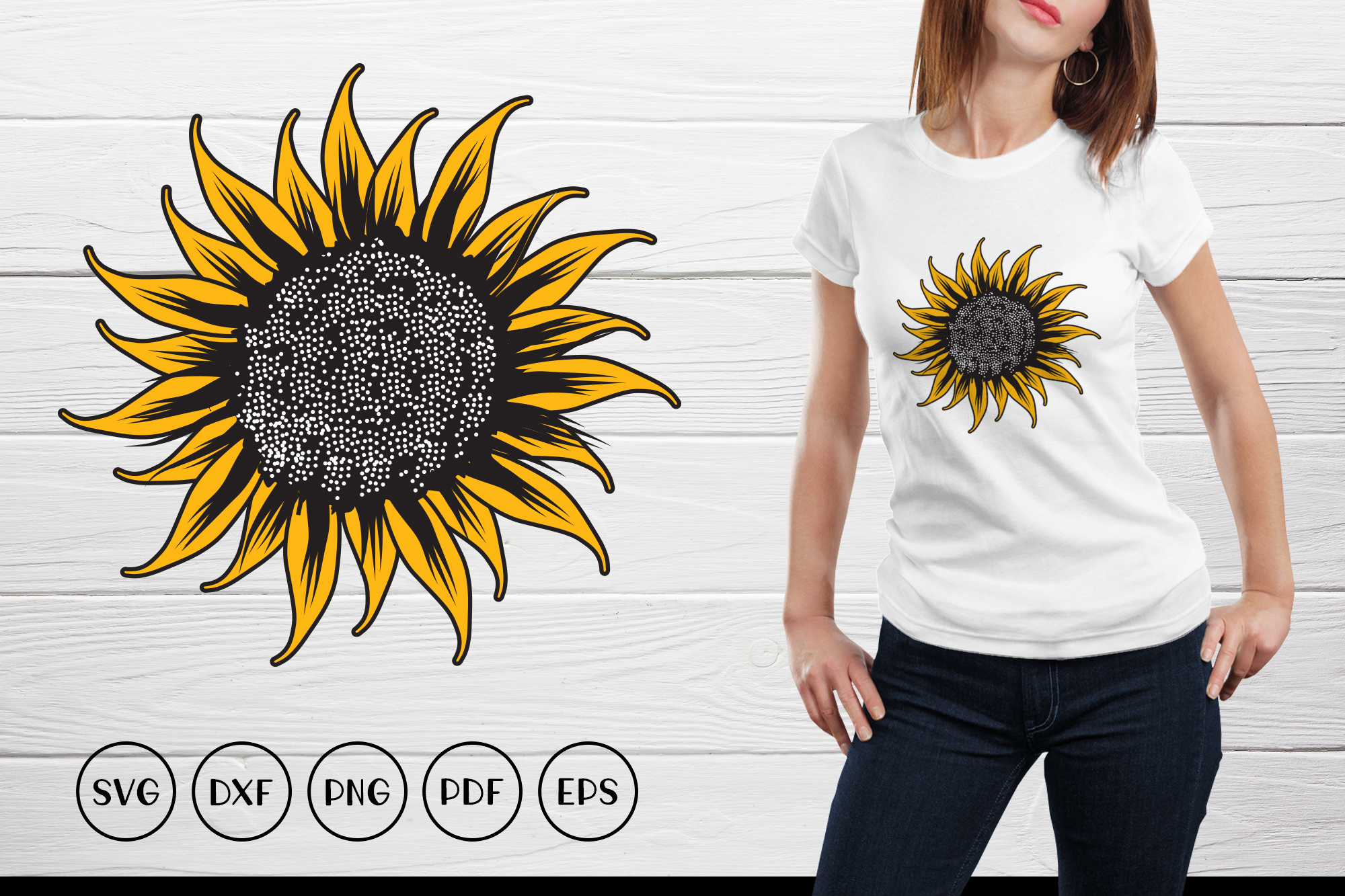 Download Free Sunflower Monogram Graphic By Craftlabsvg Creative Fabrica for Cricut Explore, Silhouette and other cutting machines.