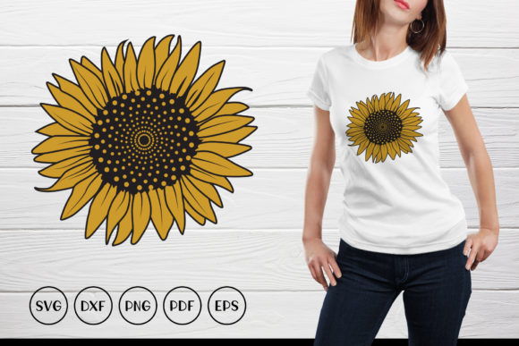 Sunflower Monogram Graphic Crafts By CraftlabSVG