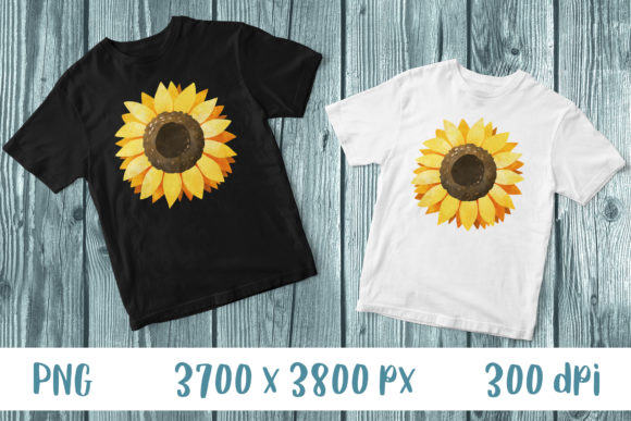 Sunflower T-Shirt Print Sublimation Graphic Print Templates By GreenWolf Art