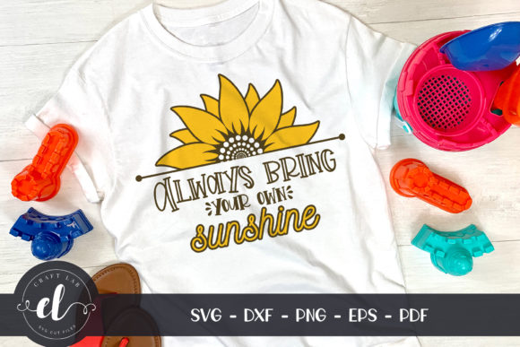 Sunflower Sunshine Quote Graphic Crafts By CraftlabSVG