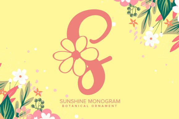 Print on Demand: Sunshine Monogram Decorative Font By Monogram Lovers