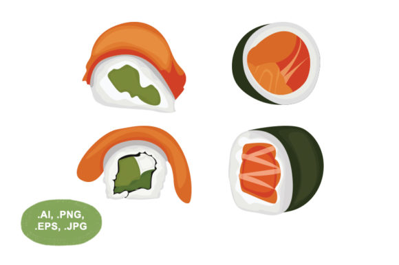 Download Free Sushi Graphic By Salfiart Creative Fabrica for Cricut Explore, Silhouette and other cutting machines.