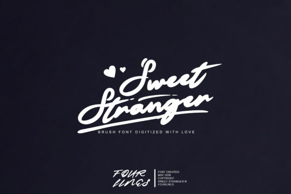 Print on Demand: Sweet Stranger Script & Handwritten Font By Fourlines.design