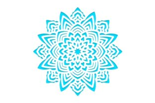 Print on Demand: Template Snowflakes Laser Cut Graphic Crafts By KundolaArt
