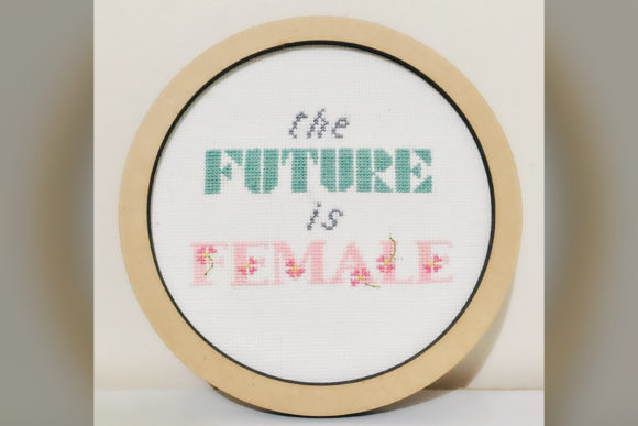 The Future is Female Cross Stitch Pattern Graphic Download