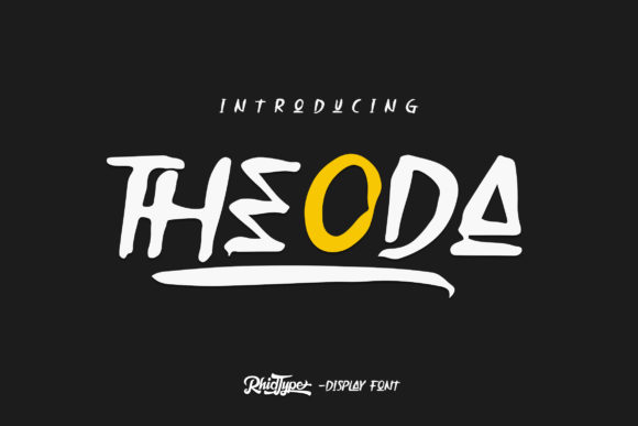 Print on Demand: Theoda Display Font By RHIDTYPE