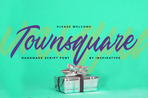 Download Free Townsquare Font By Inspiratype Creative Fabrica for Cricut Explore, Silhouette and other cutting machines.