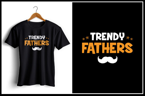 Download Free Trendy Fathers T Shirt Design Graphic By Zaibbb Creative Fabrica for Cricut Explore, Silhouette and other cutting machines.