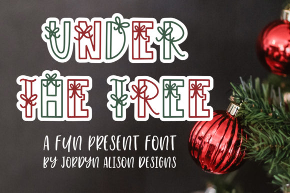 Print on Demand: Under the Tree Display Font By jordynalisondesigns