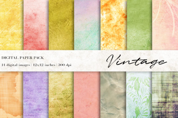 Vintage Digital Papers Graphic Textures By BonaDesigns