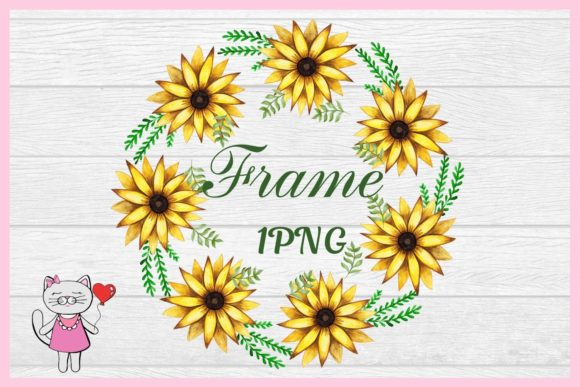 Download Free Watercolor Sunflower Frames Clipart Graphic By Magic World Of for Cricut Explore, Silhouette and other cutting machines.