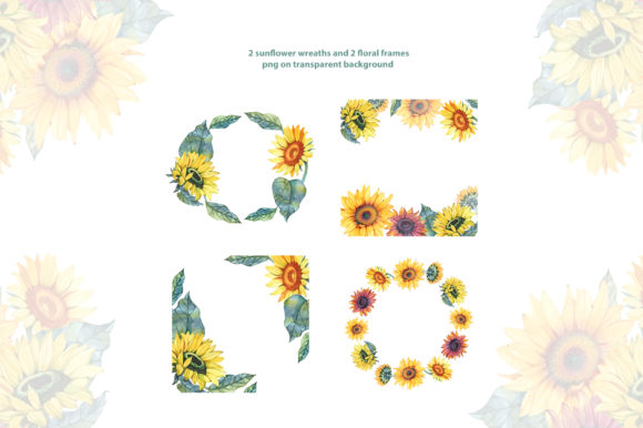 Watercolor Sunflowers Graphic Illustrations By NataliMyaStore - Image 3