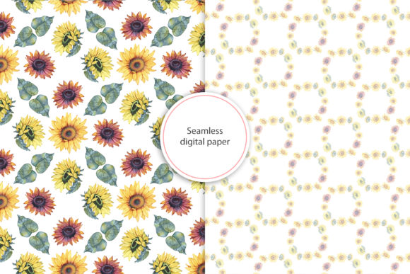 Watercolor Sunflowers Graphic Illustrations By NataliMyaStore - Image 5