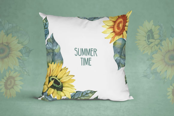 Watercolor Sunflowers Graphic Illustrations By NataliMyaStore - Image 6