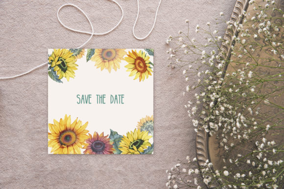 Watercolor Sunflowers Graphic Illustrations By NataliMyaStore - Image 7
