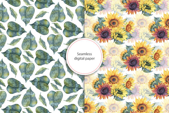 Watercolor Sunflowers Graphic Illustrations By NataliMyaStore - Image 9