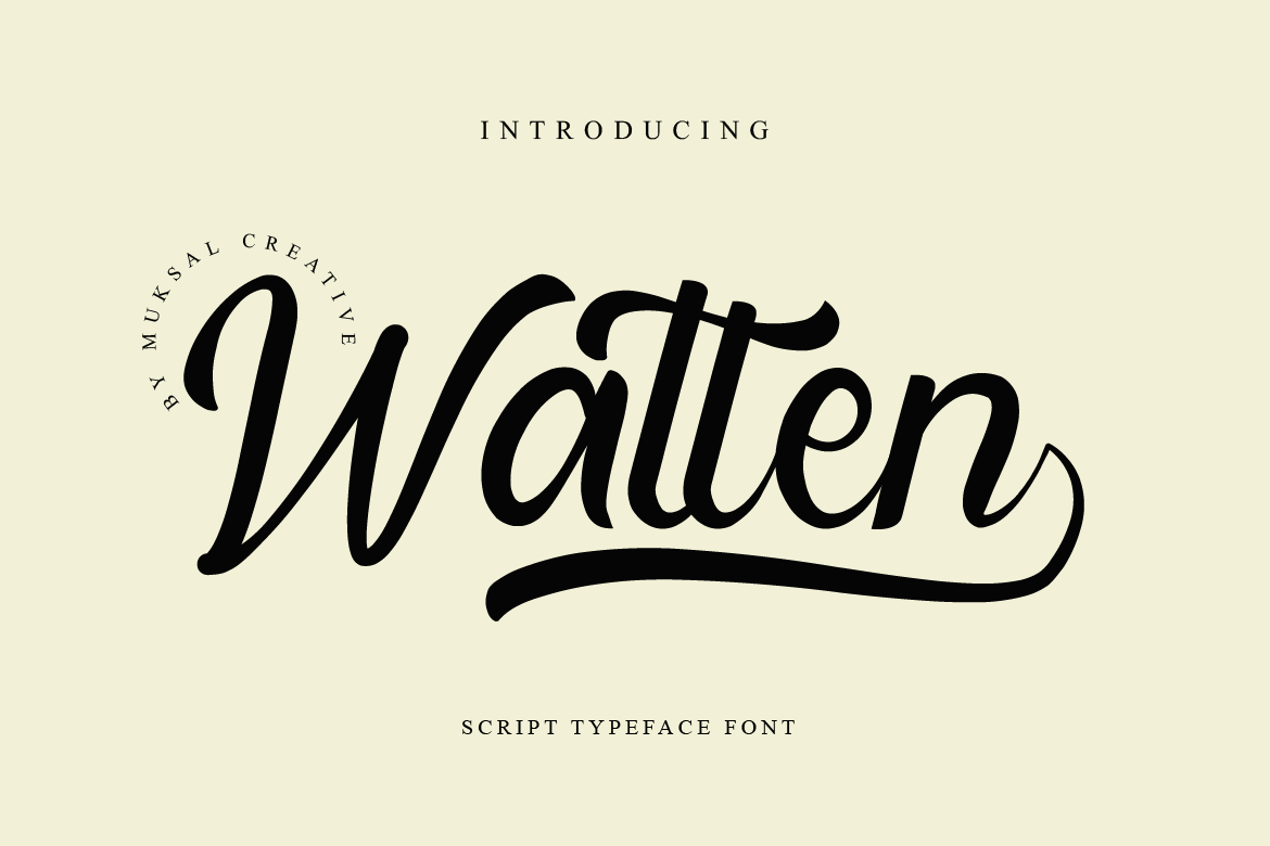 Download Free Watten Font By Muksal Creative Creative Fabrica SVG Cut Files