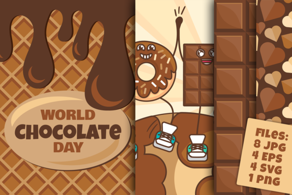 Download Free World Chocolate Day Set Graphic By Barsrsind Creative Fabrica for Cricut Explore, Silhouette and other cutting machines.