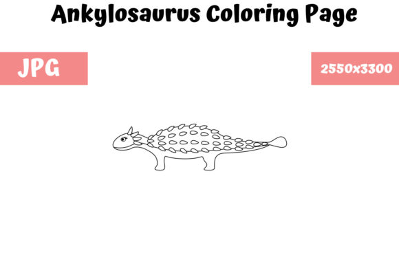 Print on Demand: Ankylosaurus - Coloring Page for Kids Graphic Coloring Pages & Books Kids By MyBeautifulFiles