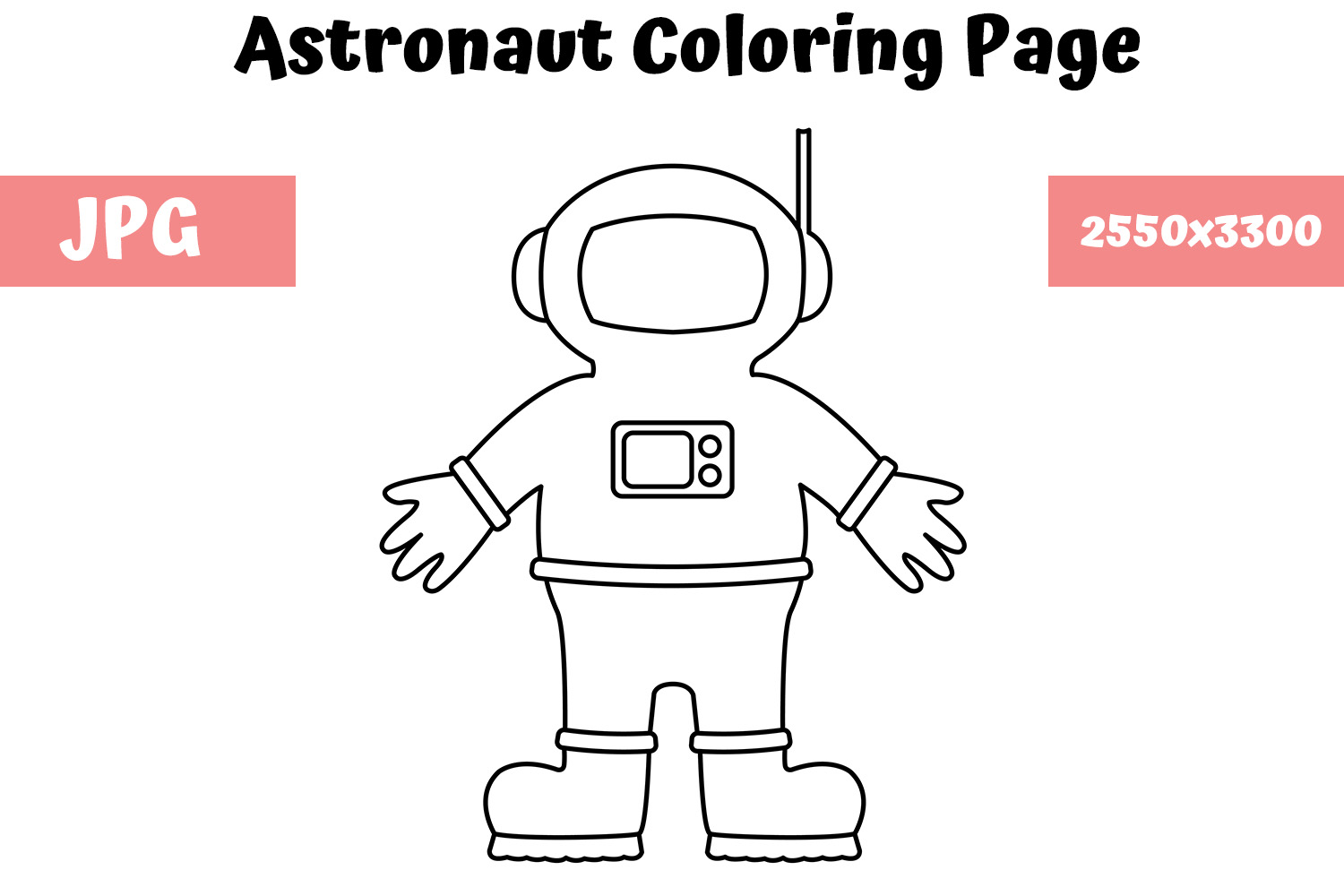 Printable Astronaut Coloring Pages For Kids | 1000x1500