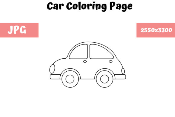 Print on Demand: Car - Coloring Page for Kids Graphic Coloring Pages & Books Kids By MyBeautifulFiles