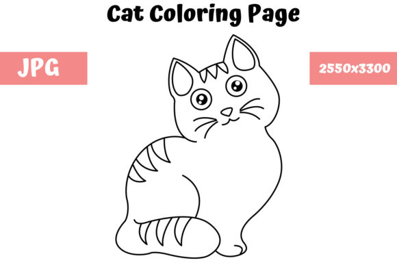 Download Free Cat Coloring Page For Kids Graphic By Mybeautifulfiles for Cricut Explore, Silhouette and other cutting machines.