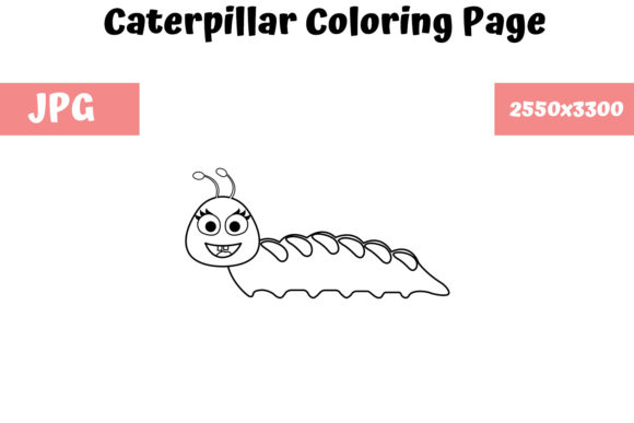 - Caterpillar - Coloring Page For Kids (Graphic) By MyBeautifulFiles ·  Creative Fabrica