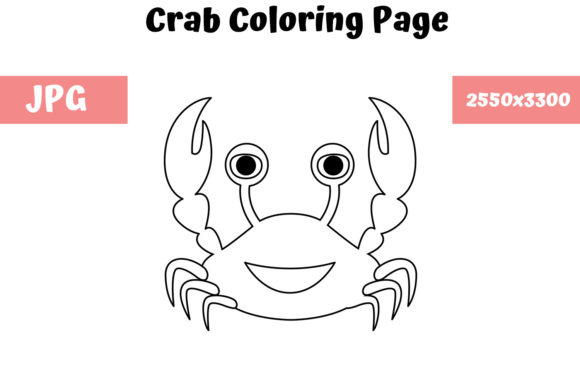 Download Free Crab Coloring Page For Kids Graphic By Mybeautifulfiles for Cricut Explore, Silhouette and other cutting machines.