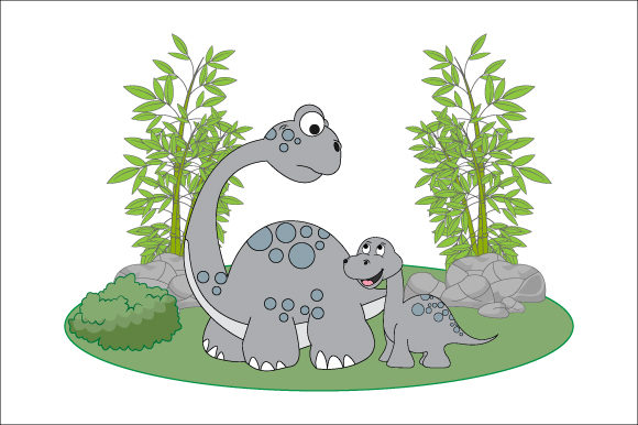 Download Free Dinosaurs And Their Eggshells Graphic By Curutdesign Creative for Cricut Explore, Silhouette and other cutting machines.