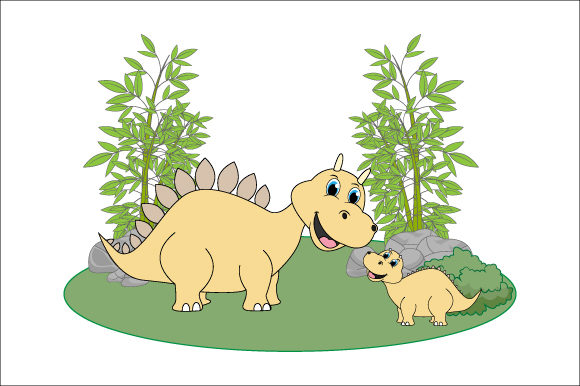 Download Free Cute Dinosaur Graphic By Curutdesign Creative Fabrica for Cricut Explore, Silhouette and other cutting machines.