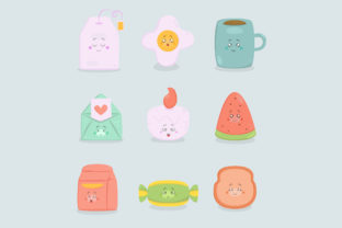 Cute Stickers Icon Hand Drawn Doodle (4) Graphic Illustrations By april_arts