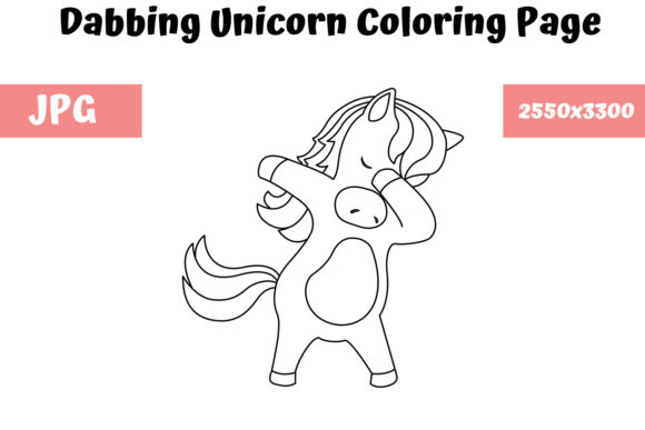 - Dabbing Unicorn - Coloring Page For Kids (Graphic) By MyBeautifulFiles ·  Creative Fabrica
