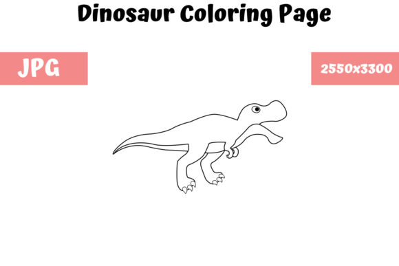 Print on Demand: Dinosaur - Coloring Page for Kids Graphic Coloring Pages & Books Kids By MyBeautifulFiles