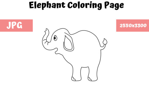 Print on Demand: Elephant - Coloring Page for Kids Graphic Coloring Pages & Books Kids By MyBeautifulFiles