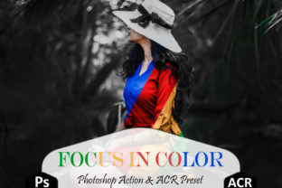 Print on Demand: Focus in Color Photoshop Actions Graphic Actions & Presets By Mattte Studio