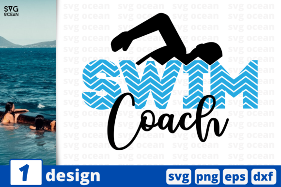 Download Free Swim Coach Graphic By Svgocean Creative Fabrica for Cricut Explore, Silhouette and other cutting machines.