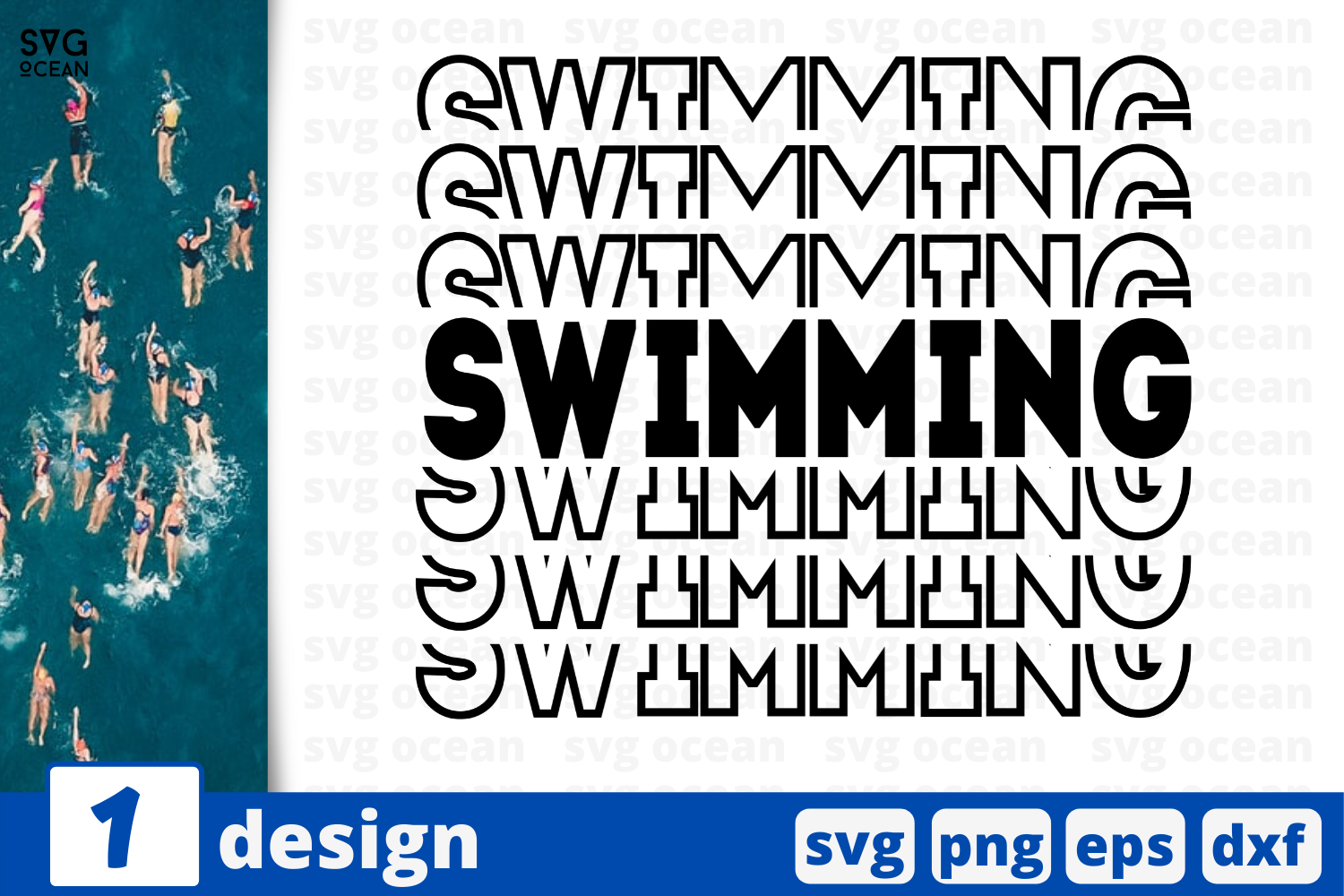 Download Free Swimming Graphic By Svgocean Creative Fabrica for Cricut Explore, Silhouette and other cutting machines.