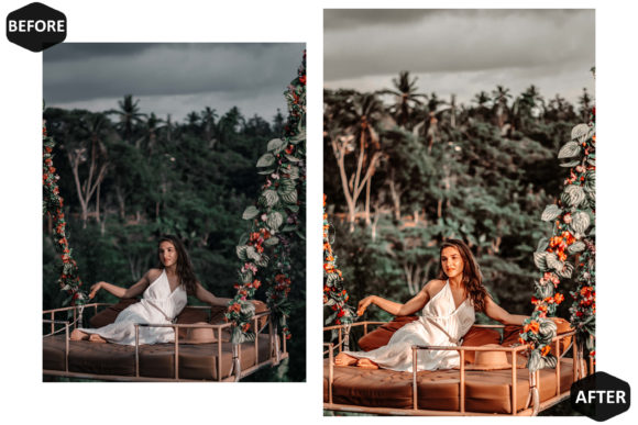 10 Amber Photoshop Actions Preset Graphic Download
