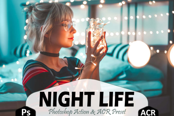Print on Demand: 10 Night Life Photoshop Actions Graphic Actions & Presets By Mattte Studio