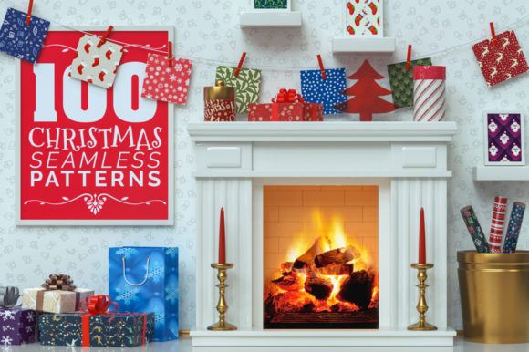 100 Christmas Seamless Patterns Graphic Patterns By pixaroma