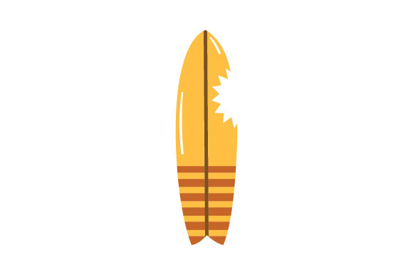 Download Free Surfboard With Sharkbite Svg Cut File By Creative Fabrica Crafts for Cricut Explore, Silhouette and other cutting machines.