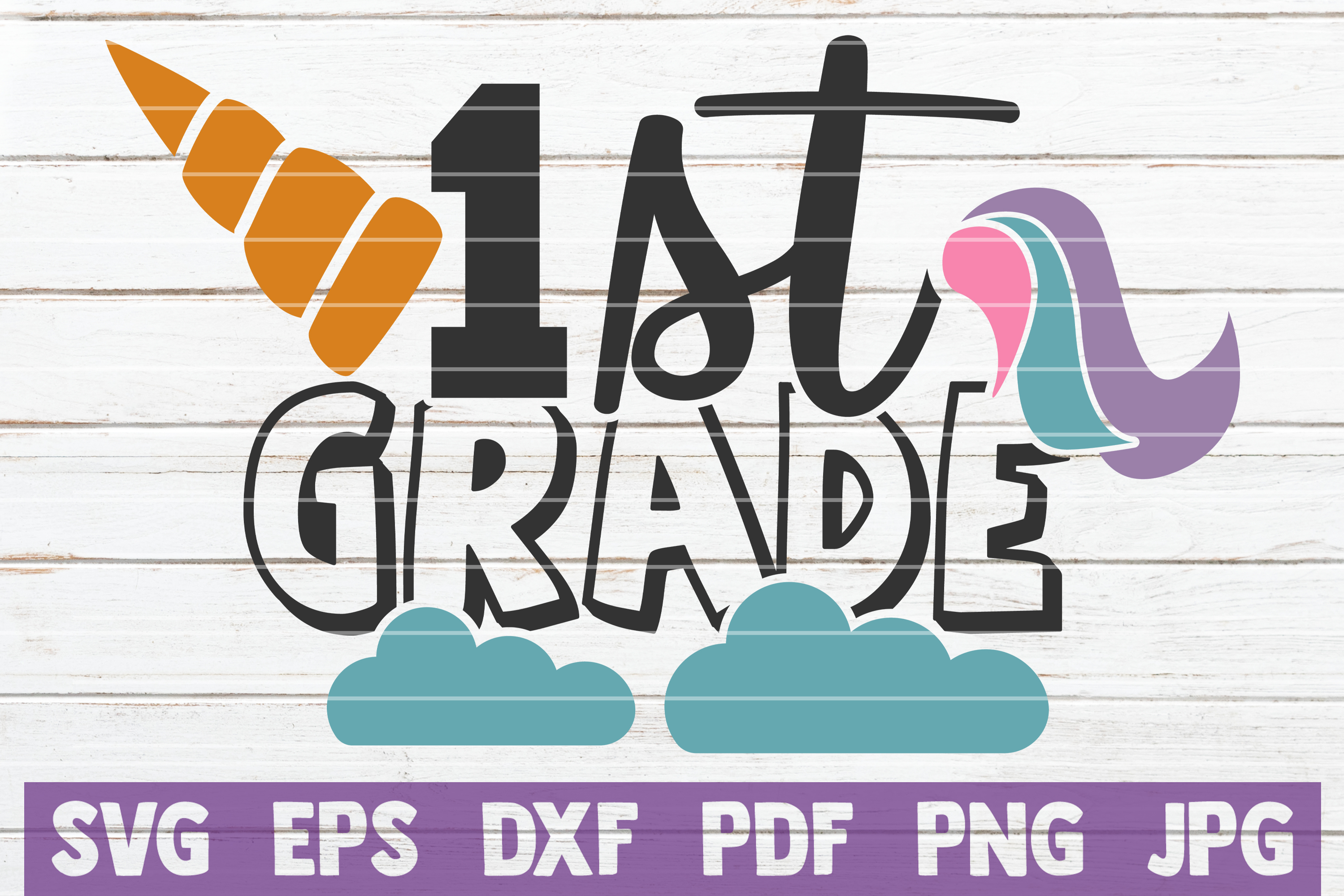 Download Free 1st Grade Unicorn Graphic By Mintymarshmallows Creative Fabrica for Cricut Explore, Silhouette and other cutting machines.