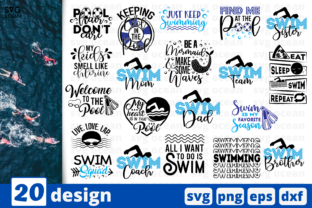 20 Swimming Quotes Bundle Graphic Print Templates By SvgOcean