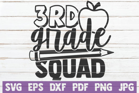 Download Free 3rd Grade Squad Graphic By Mintymarshmallows Creative Fabrica for Cricut Explore, Silhouette and other cutting machines.