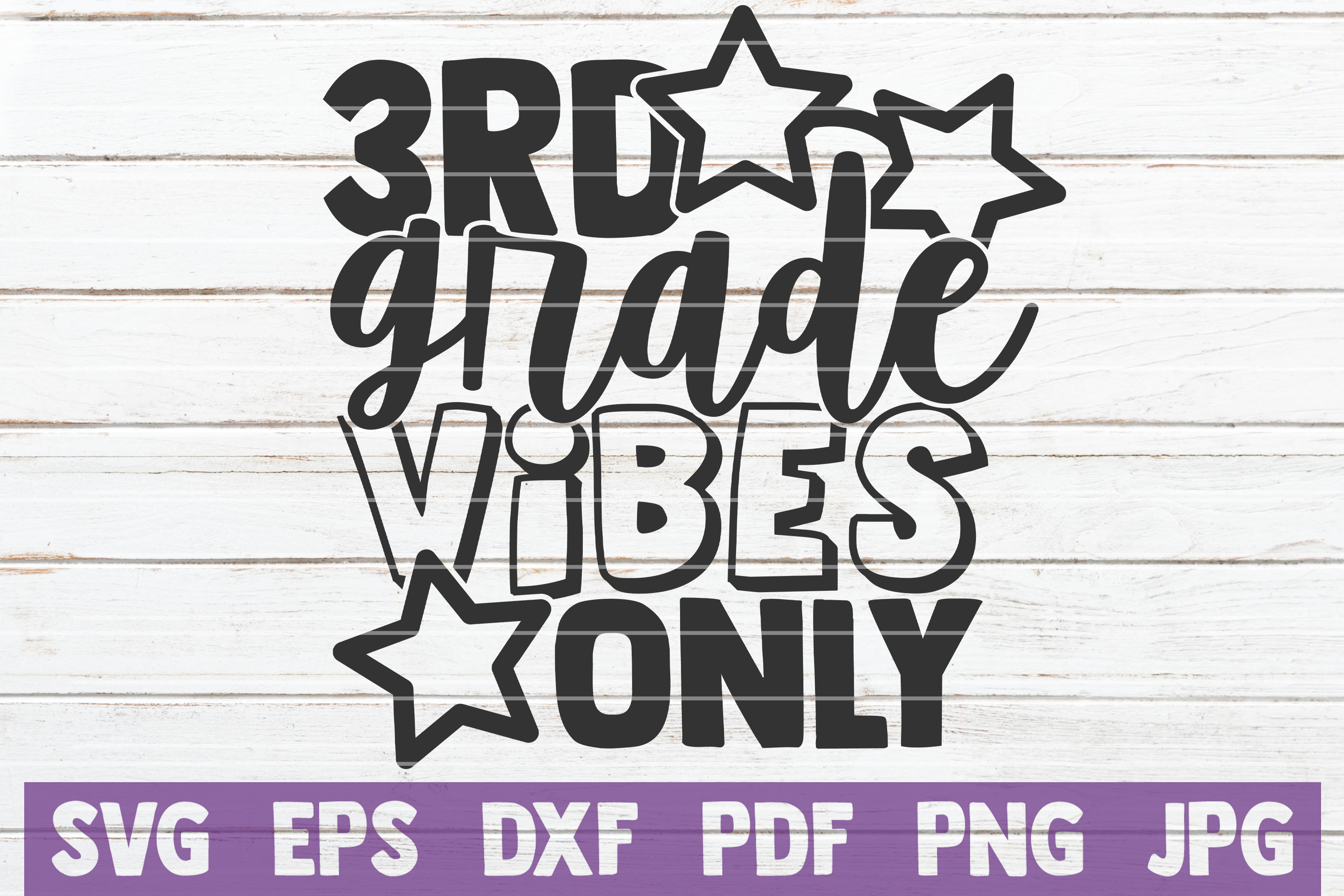 Download Free 3rd Grade Vibes Only Graphic By Mintymarshmallows Creative Fabrica for Cricut Explore, Silhouette and other cutting machines.