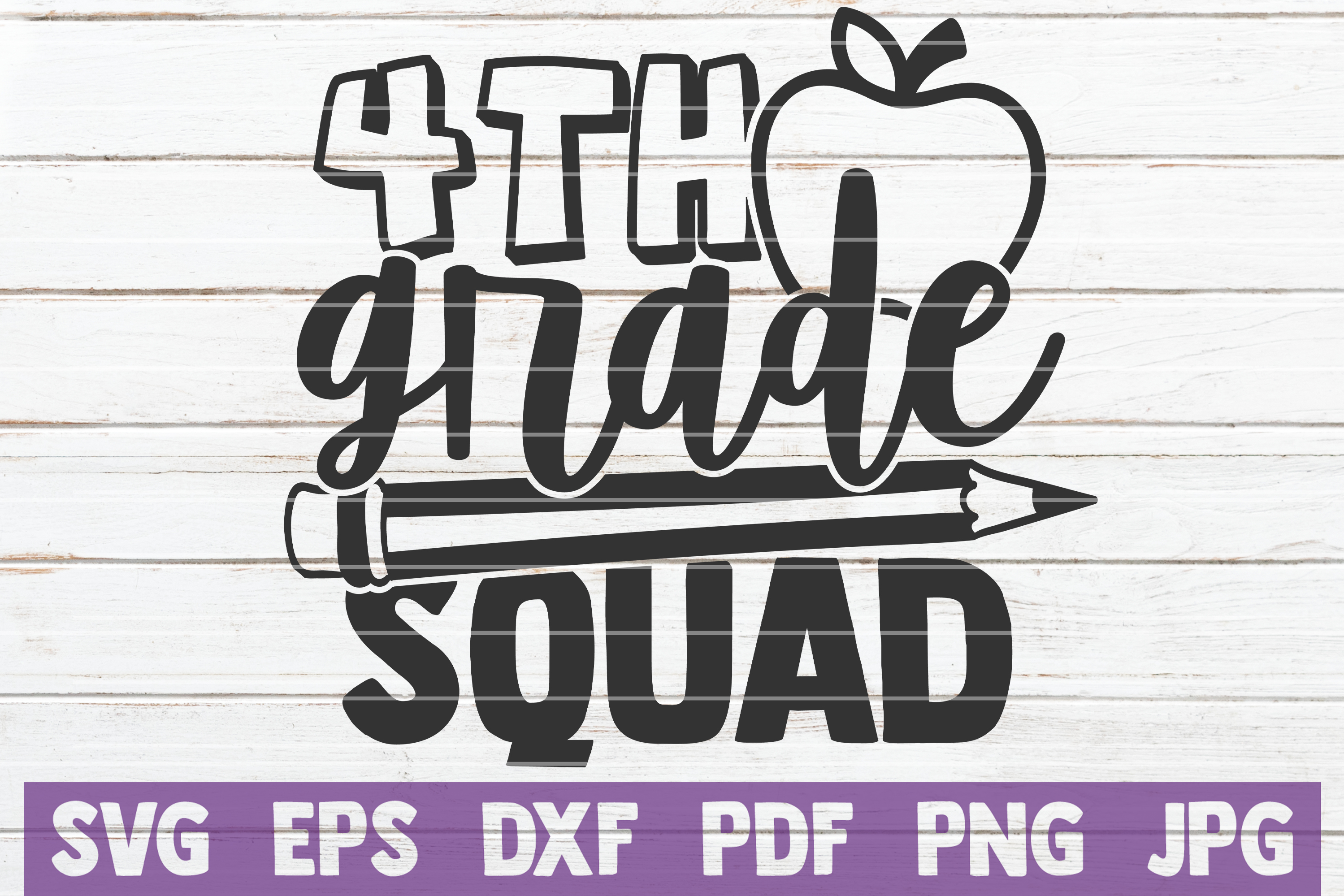 Download Free 4th Grade Squad Graphic By Mintymarshmallows Creative Fabrica for Cricut Explore, Silhouette and other cutting machines.