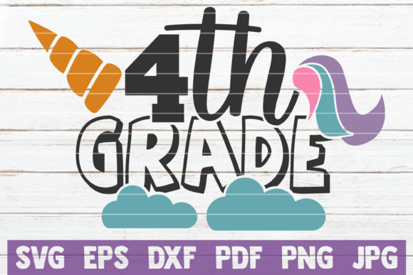 Download Free 4th Grade Unicorn Graphic By Mintymarshmallows Creative Fabrica for Cricut Explore, Silhouette and other cutting machines.