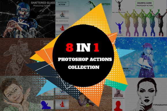 8 in 1 Actions Collection Graphic Actions & Presets By Retro Canvas